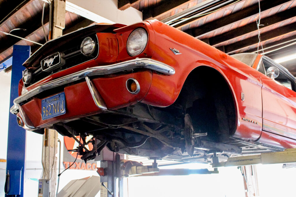 1966 Ford GT Mustang On Lift