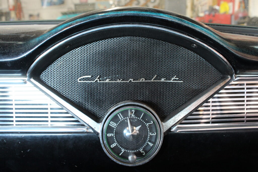 1956 Chevy Clock And Speaker
