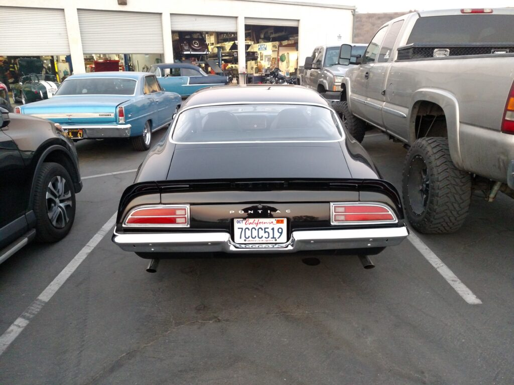 1972 Pontiac Firebird Rear View
