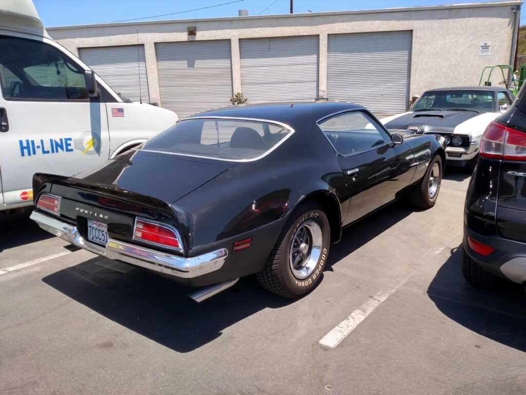 1972 Pontiac Firebird Rear Angle