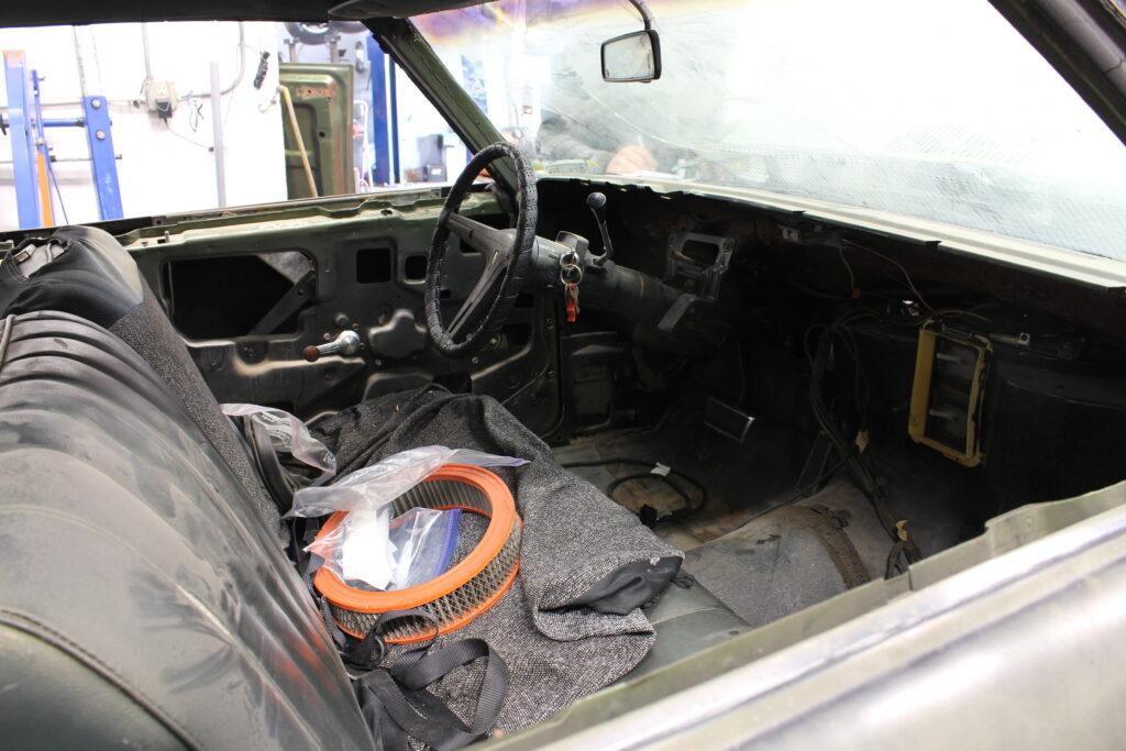 1969 Pontiac Tempest Custom Front Interior